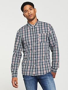 v-by-very-long-sleeved-button-down-check-shirt