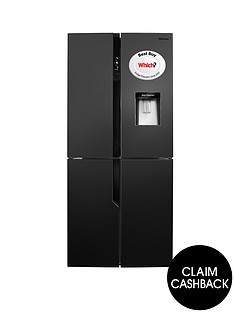 hisense-rq560n4wb1-79cm-wide-american-style-multi-door-fridge-freezer-with-water-dispenser-black