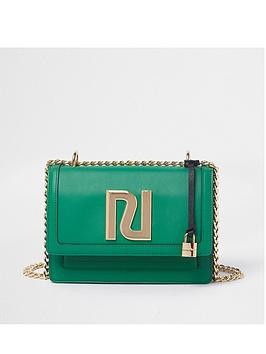 river-island-gold-chain-cross-body-bag-green