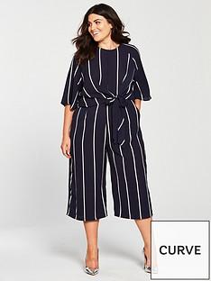 ax-paris-curve-knot-front-culotte-jumpsuit-navystripe