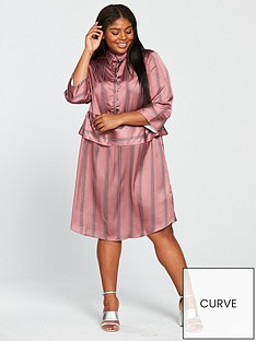 lost-ink-plus-shirt-dress-in-satin-stripe