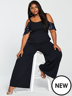 lost-ink-plus-lost-ink-plus-wide-leg-jumpsuit-with-sequin-sleeves