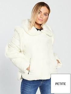 lost-ink-petite-lost-ink-petite-faux-fur-insert-padded-jacket