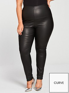 lost-ink-plus-coated-twill-skinny-trouser-black