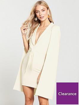 lavish-alice-gathered-tie-waist-cape-dress-cream