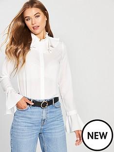 lost-ink-double-layer-neck-detail-shirt-whitenbsp