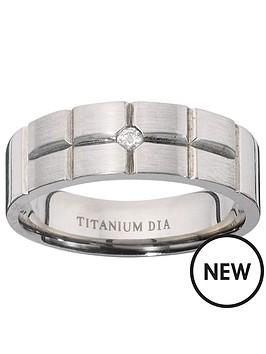 titanium-diamond-set-fancy-cut-mens-ring