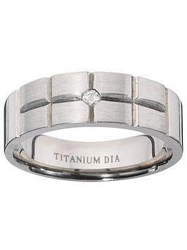 Very Titanium Diamond-Set Fancy Cut Mens Ring Picture