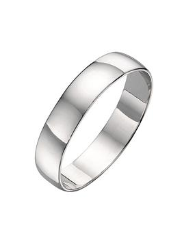 Love GOLD Love Gold 18Ct White Gold D Shaped 5Mm Wedding Band Picture