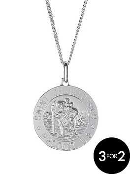 the-love-silver-collection-sterling-silver-st-christopher-pendant
