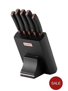 viners-mode-chocolate-5-piece-knife-block-set