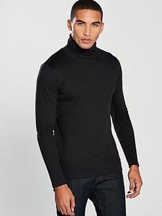 selected-homme-long-sleeve-rocky-jersey-roll-neck-black