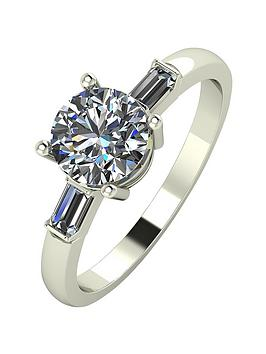 moissanite-18-carat-white-gold-125-carat-solitaire-tapered-shoulder-ring
