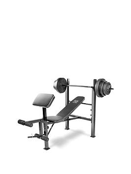 marcy-pro-standard-bench-with-45kg-weight-set