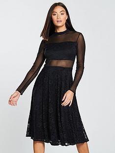 forever-unique-mesh-body-lace-midi-dress-blacknbsp