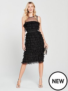 forever-unique-ruffle-midi-dress-black