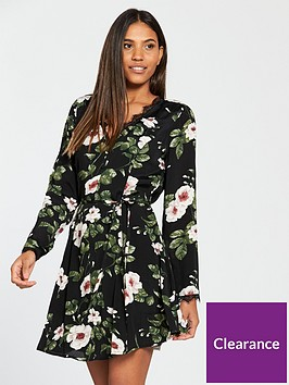 v-by-very-lace-trim-tea-dress-floral-print