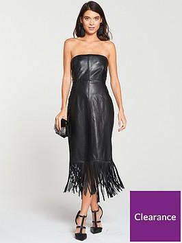 v-by-very-leather-bardot-midi-dress-black