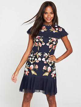 v-by-very-embroidered-pleat-hem-dress