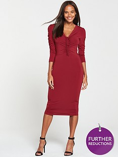 v-by-very-ruched-front-ity-bodycon-dress-burgundy