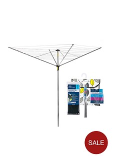 minky-outdoor-rotary-airer-with-accessories-45m-4-arm