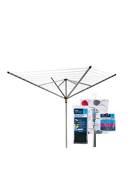 minky-outdoor-rotary-airer-with-accessories-50m-4-arm