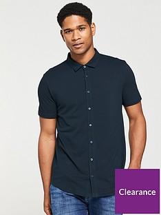 v-by-very-mens-button-through-polo-shirt-navy