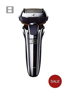 panasonic-es-lv9q-5-blade-wetnbspand-dry-shaver-with-charging-stand