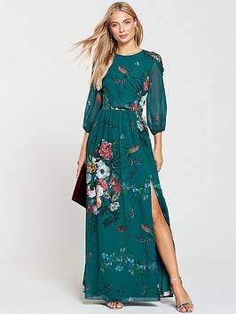 little-mistress-vintage-fit-and-flare-maxi-dress-floral-print