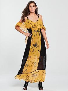 religion-posie-printed-maxi-dress-yellow