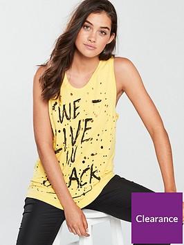 religion-element-slogan-printed-vest-yellow