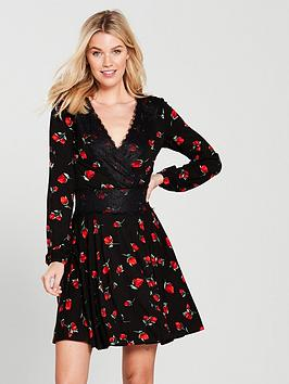v-by-very-lace-trim-jersey-dress-floral-print