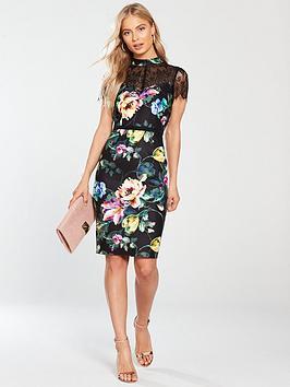 little-mistress-lace-pencil-dress-printed