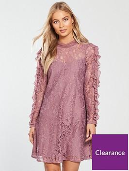 little-mistress-ruffle-sleeve-lace-shift-dress-canyon-rose