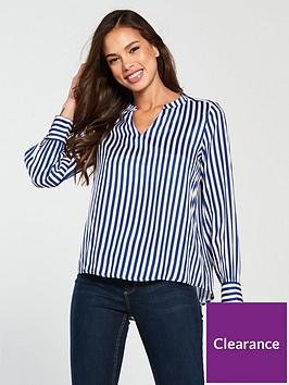vero-moda-bloom-long-sleeve-stripe-shirt-blue