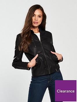 vero-moda-soffy-short-pu-jacket-black