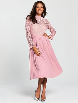 little-mistress-crochet-top-midi-dress-dusky-pink