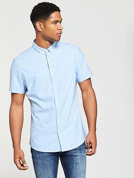 v-by-very-short-sleeved-oxford-shirt-blue