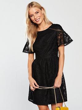 9e47eda3b35a V by Very Lace Tea Dress - Black