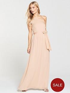 420459bdfc Little Mistress One Shoulder Maxi Dress - Nude