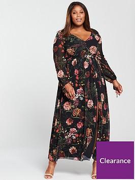 little-mistress-curve-v-neck-maxi-dress-floral