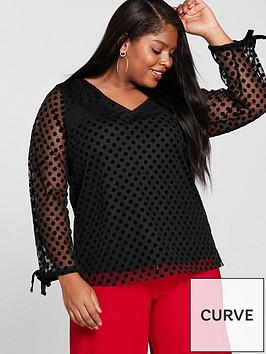 junarose-dadiva-long-sleevenbsppolka-dot-blouse-blacknbsp