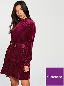 vero-moda-noon-long-sleeve-belted-mini-dress-rose