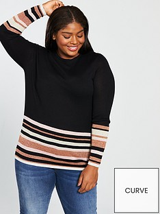 junarose-mirah-striped-knit-pullover-black