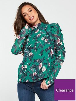 vero-moda-karen-long-sleeve-high-neck-floral-printed-top-alpine-green