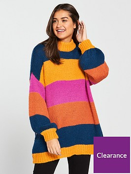 vero-moda-bold-stripe-chunky-jumper-autumn-blazenbspnbsp