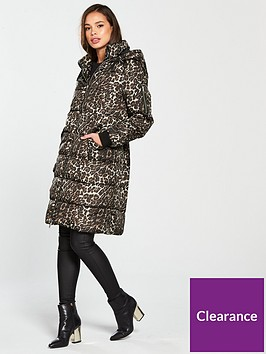 vero-moda-leopard-print-hooded-padded-coat-tobacco-brown