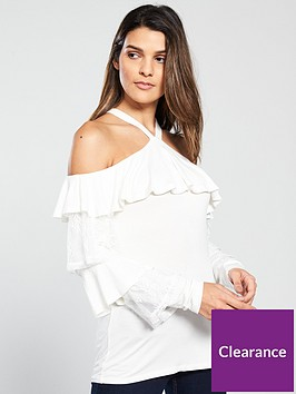 v-by-very-frill-tiered-cold-shoulder-top-ivory