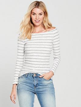 v-by-very-boat-neck-fitted-top