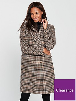 vero-moda-royal-check-double-breasted-coat-rust